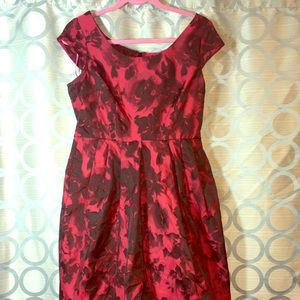 Betsy Johnson Red Dress Size 8 with Pockets